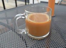 在一个室外咖啡馆的浓咖啡 库存图片