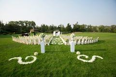 室外婚礼场面 免版税图库摄影