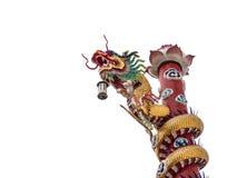在一个寺庙的中国龙在泰国 库存照片