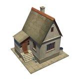 在一个小国家小屋的顶视图 免版税图库摄影