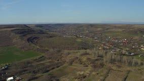在一个小村庄的鸟瞰图 股票视频