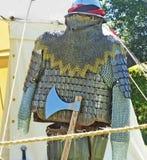 在一个展示的中世纪骑士装甲在北爱尔兰 库存图片