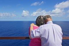 在一个巡航假期的高级夫妇 库存图片
