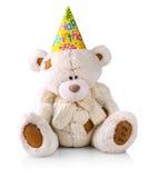 在一个帽子的玩具熊有题字的 库存照片