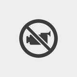 在一个平的设计的没有录影象在黑颜色 向量例证EPS10 图库摄影