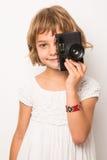 在一个微笑的孩子的演播室的画象 JPG 免版税库存照片