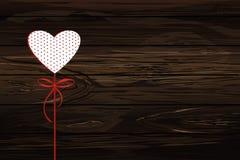 在一个忠心于的红色心脏图象 日s华伦泰 传染媒介不适 皇族释放例证
