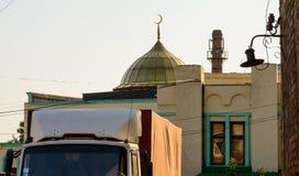 在一个房子的圆顶在哈尔科夫 免版税库存照片