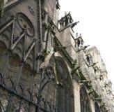 在一个教会的面貌古怪的人在法国 免版税库存照片