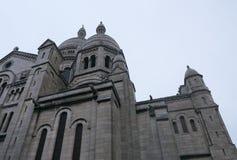 在一个教会的面貌古怪的人在法国 图库摄影