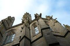 在一个教会的面貌古怪的人在法国 免版税图库摄影