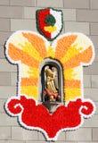 在一个教会的Turamichele雕塑在奥格斯堡 库存图片