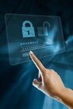 在一个数字式屏幕上的密码 免版税库存照片