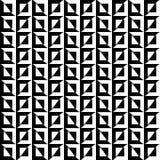 在一个无缝的样式的黑白正方形和波浪组合与大反差传染媒介EPS 10 库存照片