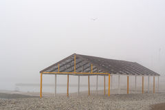 在一个有雾的早晨 库存照片