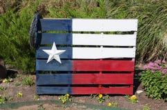 在一个木板台绘的得克萨斯旗子 库存照片