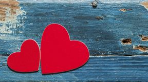 在一个木板的心脏 拟订日eps10问候例证s华伦泰向量 库存图片
