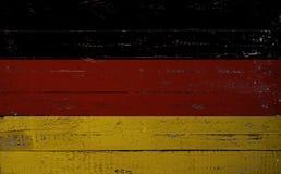 在一个木板绘的德国旗子 库存照片