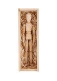 在一个木箱的木图时装模特 库存照片