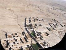 在一个村庄之上的视图在阿富汗 库存图片