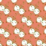在一个桃红色正方形的节奏性设计植物草莓 免版税库存照片