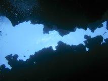 在一个水下的峡谷的底部在宰海卜,埃及 库存照片
