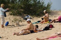 在一个海滩的夏天在帕兰加 免版税库存图片