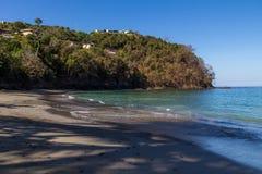 在一个海滩的早晨在哥斯达黎加太平洋 库存照片