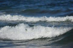 在一个海滩的波浪在丹麦 库存图片