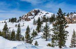 在一个清楚的冬日期间, McGlashan点地区 免版税库存照片