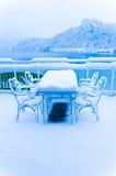 在湖的冷的天 免版税库存照片