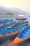 在一个湖的小船在亚洲 库存照片