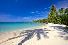 在一个热带海岛上的天堂假期 库存图片