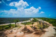 在一个热带海岛上的极端热 免版税库存图片