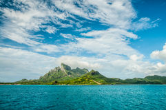 在一个热带海岛上的看法 库存图片