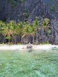 在一个热带海岛菲律宾上 库存照片