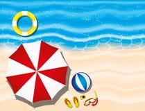 在一个热带海滩的假期 免版税库存图片