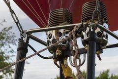 在一个热空气气球的燃烧器 库存图片
