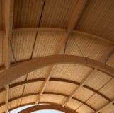 在一个现代大厦的木屋顶。 免版税库存照片