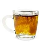 在一个玻璃杯子颗粒化的咖啡 免版税图库摄影