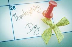 在一个白色笔记本写的词感恩提醒 免版税库存照片