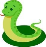 在一个白色背景传染媒介例证的蛇 库存照片