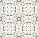 在一个白色背景无缝的样式的五颜六色的抽象几何对象导航例证 免版税库存照片