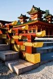 令人惊讶的Heian Jingu寺庙在京都 免版税库存照片