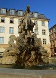 在一个的细节奥洛穆茨著名喷泉捷克共和国 库存照片