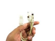 在一个的Usb缆绳4 免版税图库摄影