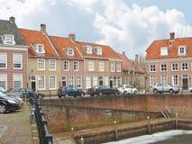 在一个码头的汽车在赫斯登荷兰镇。 库存照片