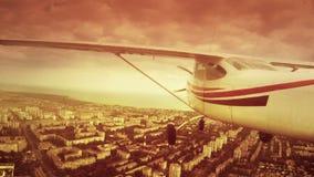 在一个私人喷气式飞机的飞行 股票录像