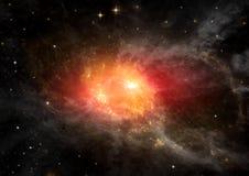 在一个空位的星系 库存图片