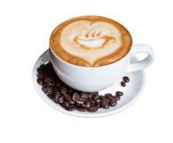 在一个空白杯子的咖啡 免版税库存图片